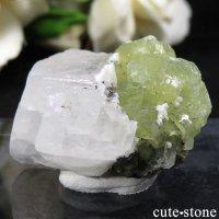 タンザニア メレラニ産 プレナイト&カルサイトの原石 18.8gの画像