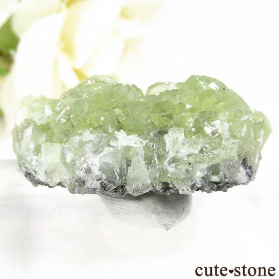 タンザニア メレラニ産 プレナイトの原石 19.7gの写真1 cute stone