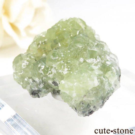 タンザニア メレラニ産 プレナイトの原石 19.7gの写真2 cute stone