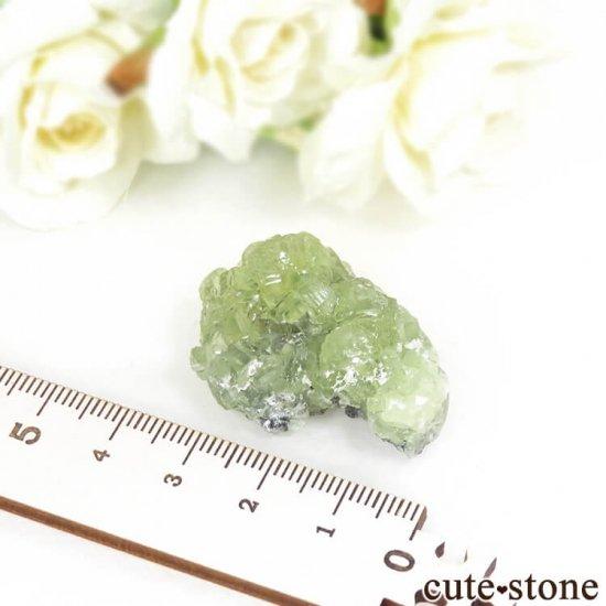 タンザニア メレラニ産 プレナイトの原石 19.7gの写真5 cute stone