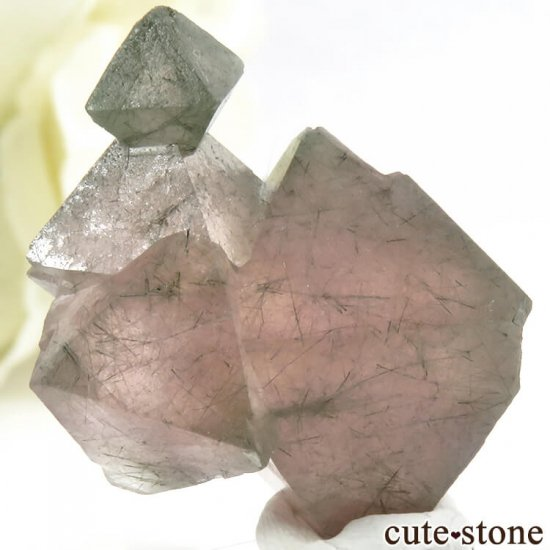 中国 内モンゴル産のピンクフローライトの結晶(原石)9.9gの写真0 cute stone