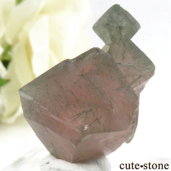 中国 内モンゴル産のピンクフローライトの結晶(原石)9.9gの写真3 cute stone