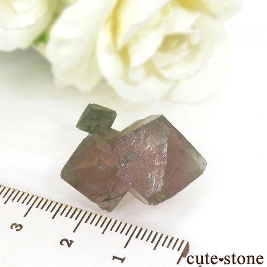中国 内モンゴル産のピンクフローライトの結晶(原石)9.9gの写真5 cute stone