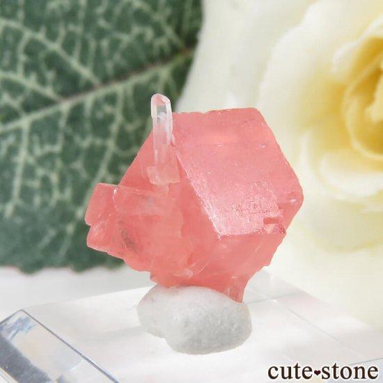 コロラド スイートホーム鉱山産のロードクロサイト&クォーツの原石 1.3gの写真0 cute stone