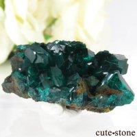 コンゴ Tantara Mine産のダイオプテーズの母岩付き結晶(原石)12.6gの画像