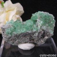 スペイン産グリーンフローライトの母岩付き結晶(原石)20gの画像