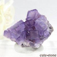 モロッコ ウジダ・アンガット産 パープルフローライトの結晶(原石) 14.5gの画像