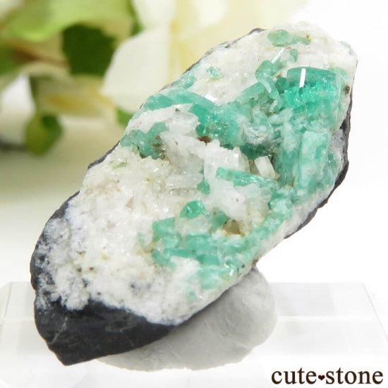 コロンビア産エメラルドの母岩付き結晶