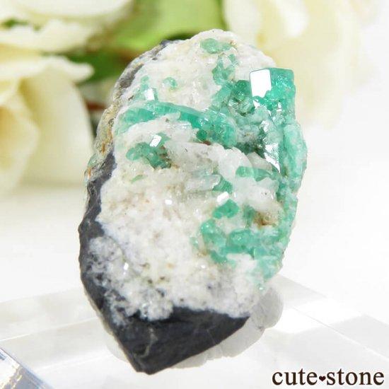 コロンビア Chivor Mine産 エメラルドの母岩付き結晶(原石)6.4gの写真1 cute stone