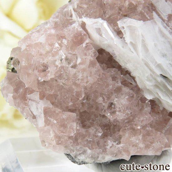 ペルー Huanzala Mine産 ピンクフローライト&パイライト 45gの写真3 cute stone