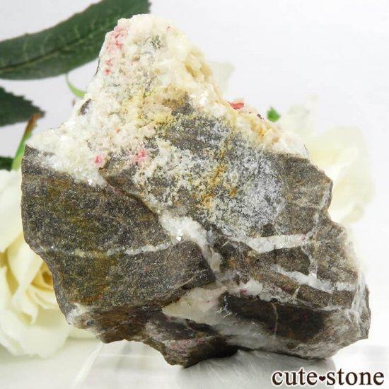 辰砂(シンシャ)シナバーの母岩付き原石 56.8gの写真1 cute stone