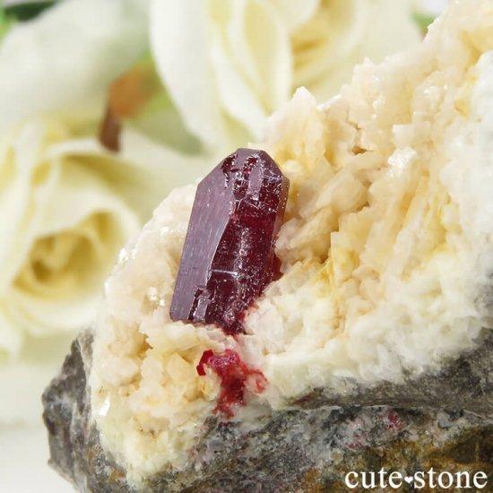 辰砂(シンシャ)シナバーの母岩付き原石 56.8gの写真3 cute stone