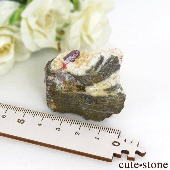 辰砂(シンシャ)シナバーの母岩付き原石 56.8gの写真5 cute stone