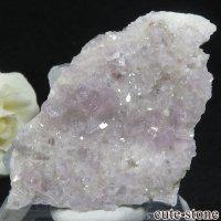 イングランド(イギリス)産パープルフローライト&カルサイトの母岩付き結晶(原石)54.2gの画像
