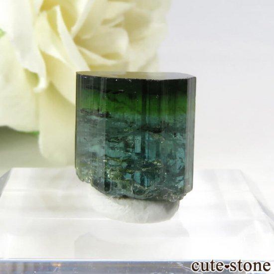 ブラジル ミナスジェライス州産 バイカラートルマリン(ブルー・グリーン)の結晶 2.7g