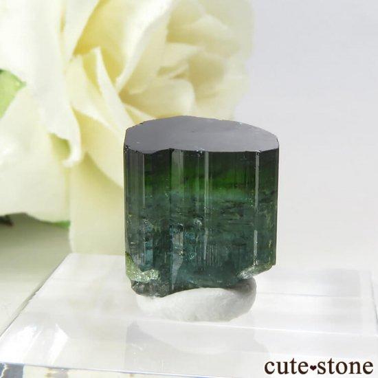 ブラジル ミナスジェライス州産 バイカラートルマリン(ブルー・グリーン)の結晶 2.7gの写真1 cute stone