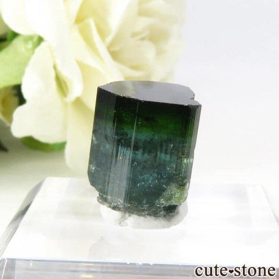 ブラジル ミナスジェライス州産 バイカラートルマリン(ブルー・グリーン)の結晶 2.7gの写真2 cute stone