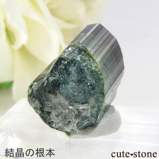 ブラジル ミナスジェライス州産 バイカラートルマリン(ブルー・グリーン)の結晶 2.7gの写真4 cute stone