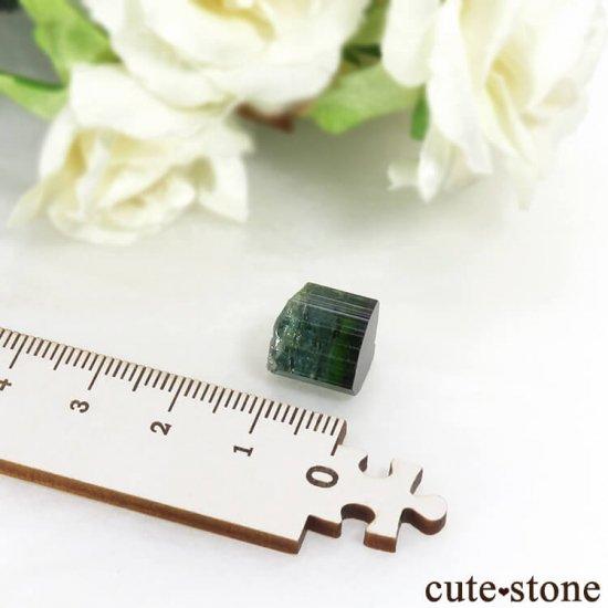 ブラジル ミナスジェライス州産 バイカラートルマリン(ブルー・グリーン)の結晶 2.7gの写真5 cute stone