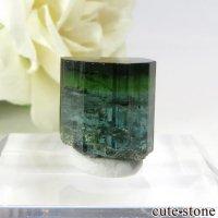 ブラジル ミナスジェライス州産 バイカラートルマリン(ブルー・グリーン)の結晶 2.7gの画像
