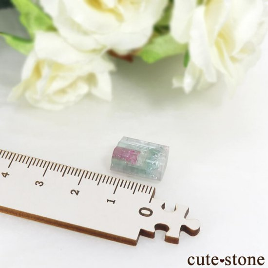 ブラジル ミナスジェライス州産 トリカラートルマリンの結晶 2.1gの写真5 cute stone