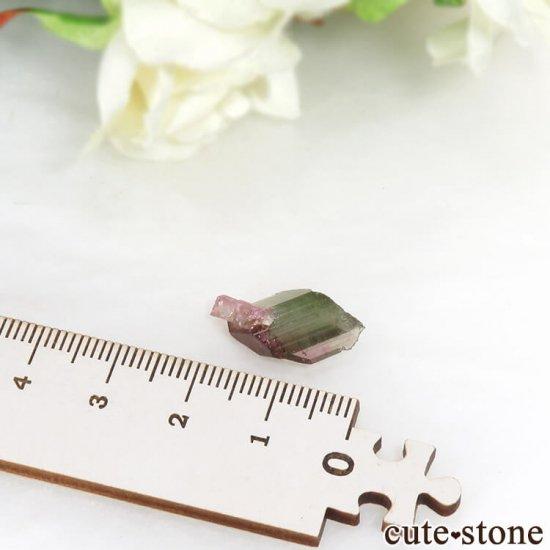 マダガスカル産 バイカラートルマリンの結晶 1.2gの写真4 cute stone