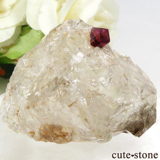 マダガスカル産 ピンクトルマリンの母岩付き結晶(原石) 14.4g
