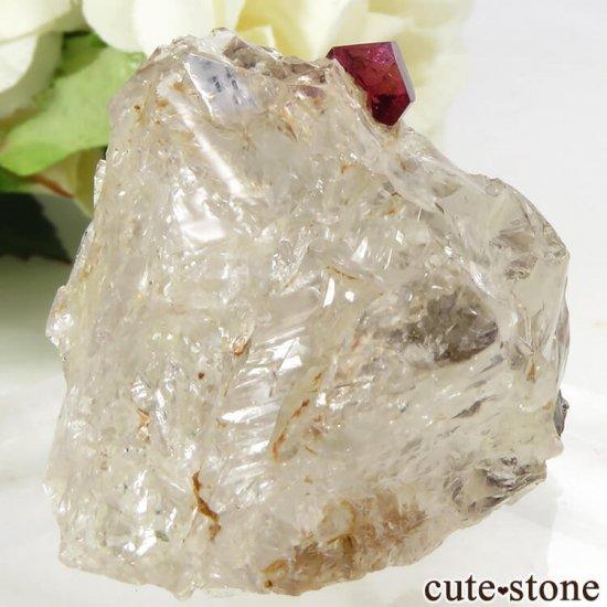 マダガスカル産 ピンクトルマリンの母岩付き結晶(原石) 14.4gの写真0 cute stone