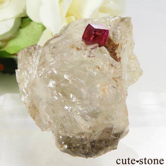 マダガスカル産 ピンクトルマリンの母岩付き結晶(原石) 14.4gの写真2 cute stone