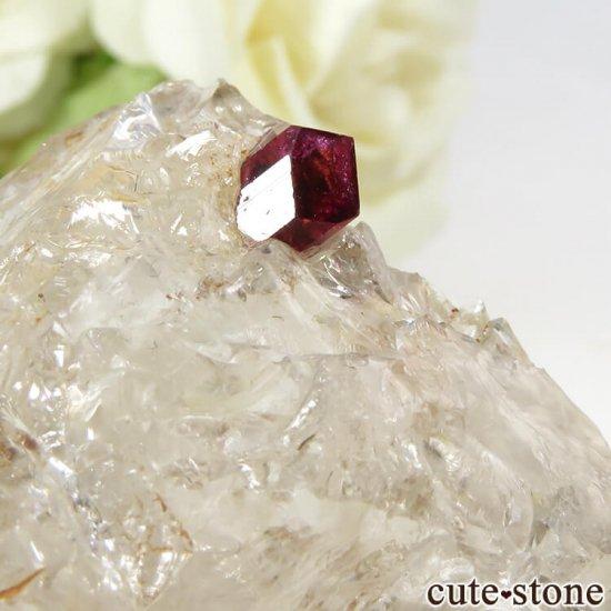マダガスカル産 ピンクトルマリンの母岩付き結晶(原石) 14.4gの写真3 cute stone