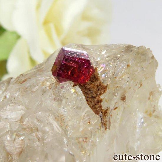 マダガスカル産 ピンクトルマリンの母岩付き結晶(原石) 14.4gの写真4 cute stone