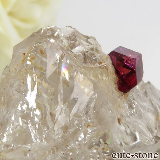 マダガスカル産 ピンクトルマリンの母岩付き結晶(原石) 14.4gの写真5 cute stone