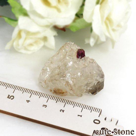 マダガスカル産 ピンクトルマリンの母岩付き結晶(原石) 14.4gの写真6 cute stone