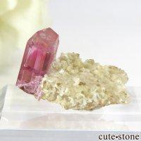 マダガスカル産 ピンクトルマリンの母岩付き結晶(原石) 1.5gの画像