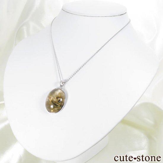 太陽ルチルのペンダントトップ silver925製ペンダントトップの写真6 cute stone