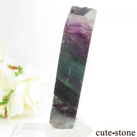 フローライトの板状スライス 72.9gの写真2 cute stone