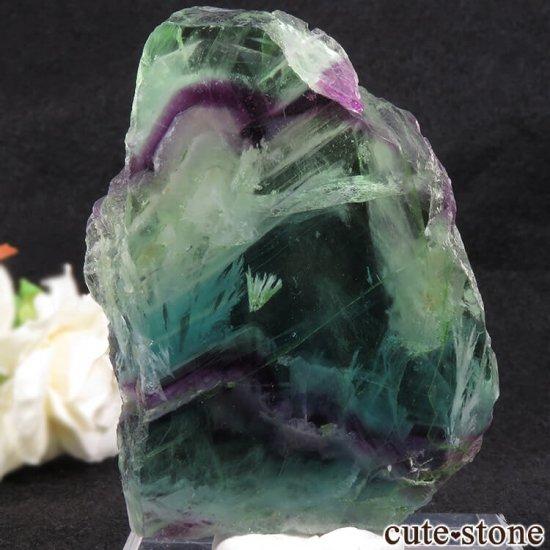 フェザーインフローライトの板状スライス 104gの写真1 cute stone