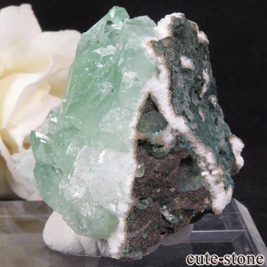 インド プネー産 グリーンアポフィライトの原石 36.3gの写真2 cute stone