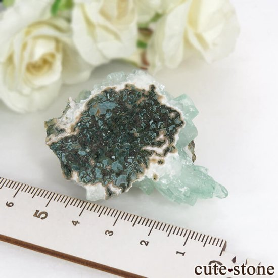インド プネー産 グリーンアポフィライトの原石 27.5gの写真5 cute stone
