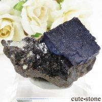 アメリカ エルムウッド鉱山産 ブルーフローライト&スファレライトの原石 68.5gの画像