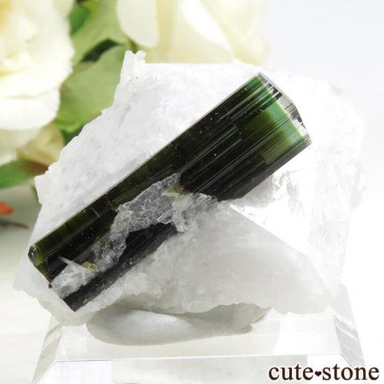 パキスタン スカルドゥ産 グリーントルマリンの母岩付き結晶(原石) 18g