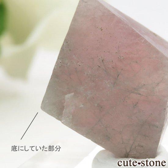 中国 内モンゴル産のピンクフローライトの結晶(原石)6g (1)の写真3 cute stone