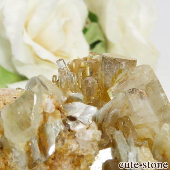 パキスタン Nagar産ゴシェナイトの母岩付き結晶(原石) 75.5gの写真1 cute stone
