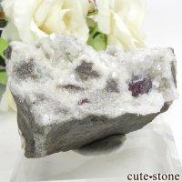 辰砂(シンシャ)シナバーの母岩付き原石 97.2gの画像
