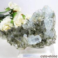 パキスタン産 アクアマリンの母岩付き結晶(原石) 181gの画像