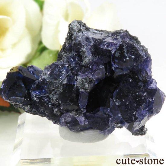 中国 福建省産パープルブルーフローライトの結晶(原石) 31g