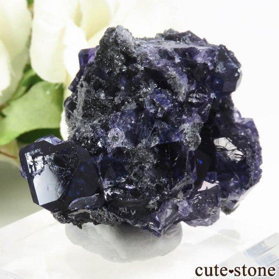 中国 福建省産パープルブルーフローライトの結晶(原石) 31gの写真0 cute stone