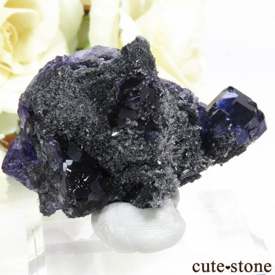 中国 福建省産パープルブルーフローライトの結晶(原石) 31gの写真1 cute stone