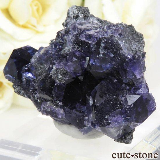 中国 福建省産パープルブルーフローライトの結晶(原石) 31gの写真2 cute stone