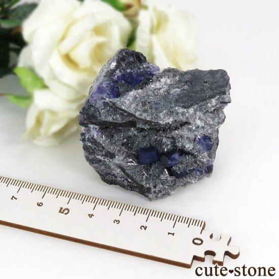 中国 福建省産パープルブルーフローライトの結晶(原石) 85gの写真5 cute stone